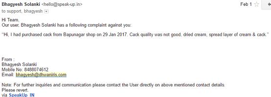 bhagyesh complaint